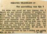 19370301 Nieuwe tramlijn 17