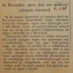 19380105 resultaten RET december, verzameling Hans Kaper