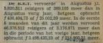 19380907 resultaten RET augustus, verzameling Hans Kaper
