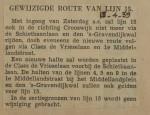 19390413 gewijzigde route lijn 15, verzameling Hans Kaper