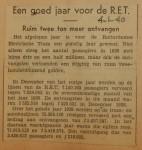 19400104 een goed jaar voor de RET, verzameling Hans Kaper