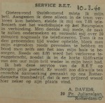 19400310 service RET, verzameling Hans Kaper