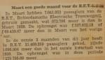 19400404 resultaten RET maart, verzameling Hans Kaper