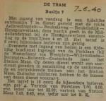 19400607 buslijn 7 weer in bedrijf, verzameling Hans Kaper
