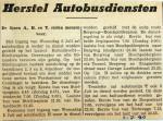 19400702 Herstel autobusdiensten