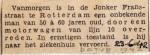19420623 Man door tram overreden Jonker Fransstraat