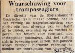 19420930 Waarschuwing voor trampassagiers
