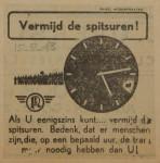 19430215 advertentie vermijd de spitsuren, verzameling Hans Kaper