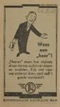 19430324 advertentie wees een heer, verzameling Hans Kaper