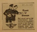 19431025-Advertentie-Komt-U-binnen, verzameling Hans Kaper
