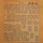 19440818-Inkorting-dienstregeling, Verzameling Hans Kaper