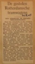 19450824-Gestolen-trams-in-Bremen-aangetroffen, Verzameling Hans Kaper