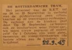 19450922-Geen-kaartverkoop-ivm-zuivering, Verzameling Hans Kaper