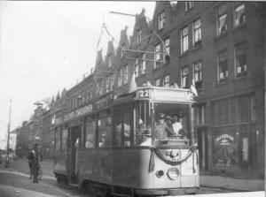 Motorrijtuig 491, lijn 22, Pijperstraat, 9-1929