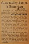 19460415-Geen-trolleybussen-in-Rotterdam, Verzameling Hans Kaper