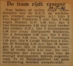 19460730-De-tram-rijdt-vroeger, Verzameling Hans Kaper