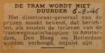 19460906-De-tram-wordt-niet-duurder, Verzameling Hans Kaper