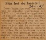 19470124-Zijn-het-de-laatste-tram, Verzameling Hans Kaper