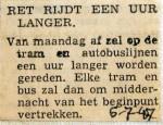 19470706 RET rijdt een uur langer