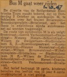 19471001-Bus-M-gaat-weer-rijden, Verzameling Hans Kaper