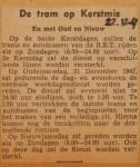 19471222-De-tram-op-Kerstmis, Verzameling Hans Kaper