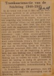 19480428-Tramkaartenactie-1940-1945, Verzameling Hans Kaper