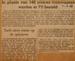 19490411-Geen-140-maar-72-nieuwe-trams, Verzameling Hans Kaper