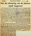 19491110 Uitvoering plannen Hofplein begonnen
