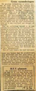 19500915 Grote veranderingen RET plannen