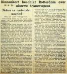 19500916 Binnenkort nieuwe tramwagens