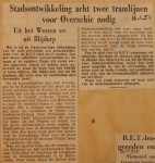 19510116-Twee-tramlijnen-voor-Overschie-nodig, Verzameling Hans Kaper