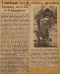 19510312-Trambaan-wordt-omhoog-gespoten, Verzameling Hans Kaper