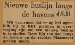 19510504-Nieuwe-buslijn-langs-de-havens, Verzameling Hans Kaper
