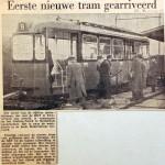 19561121 Eerste nieuwe tram gearriveerd (HVV)