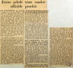19570201 Eerste gelede tram maakt officiele proefrit