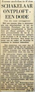 19570923 Schakelaar ontploft een dode