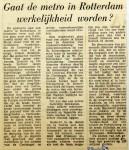 19590124 Gaat metro in Rotterdam werkelijkheid worden