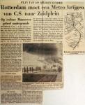 19590124 Rotterdam moet metro krijgen van CS naar Zuidplein