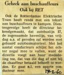 19600217 Gebrek aan buschauffeurs bij de RET