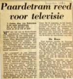 19600825 Paardentram reed voor televisie