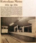 19610222 Rotterdamse Metro een op een