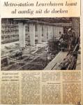 19611111 Metrostation Leuvehaven komt al aardig uit de doeken