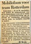 19621012 Mobilofoon voor tram Rotterdam