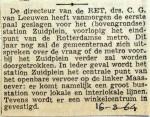 19640316 Eerste paal station Zuidplein