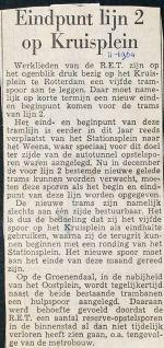 196411 Eindpunt lijn 2 op Kruisplein.