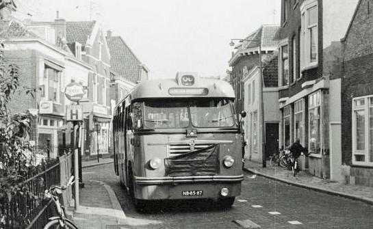 1966,Saurer 419, lijn 60, Overschiese Dorpsstraat, 3 november(lvh)