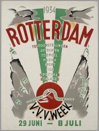 Affiche VVV feestweek 1934