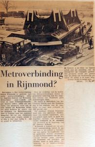 19660401 Metroverbinding in Rijnmond