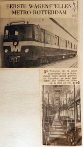19660518 Eerste metrowagenstellen in Rotterdam
