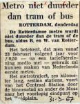 19670331 Metro niet duurder dan tram of bus